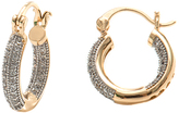 Sweet & Soft Gold Huggie Earrings with Swarovski® Crystals