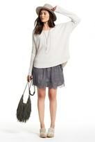 Calypso St. Barth Loetita Lace Trim Silk Skirt