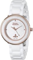 Vivienne Westwood Women's VV124WHWH Orb London Stainless Steel Watch with Ceramic Band