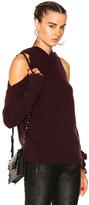 RtA Juno Cashmere Sweater in Purple,Red.
