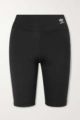adidas Striped Stretch-jersey Shorts - Black
