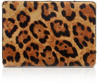 Hunting Season Leopard-Print Velvet Clutch