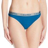 Calvin Klein Women's Standard Radiant Cotton Thong Panty