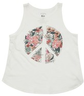 Billabong Girl's Flowers Of Peace Graphic Print Tank