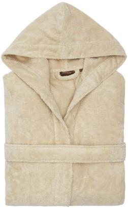 Roberto Cavalli Gold New Hooded Cotton Bathrobe