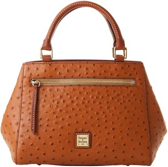 Dooney & Bourke Ostrich Small Zip Satchel