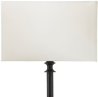 OKA 35cm Rectangular Cotton Lampshade - Off White