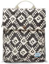 Toms Black Ikat Geometric Trekker Backpack