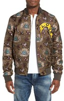 Scotch & Soda Men's Floral Jacquard Bomber Jacket
