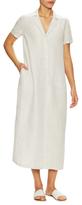 Lafayette 148 New York Watson Linen Tea Length Shirtdress
