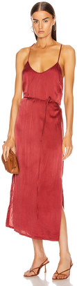 Raquel Allegra Simple Slip Dress in Redwood | FWRD