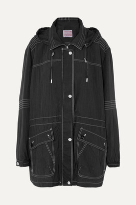 ALEXACHUNG Hooded Shell Jacket - Black