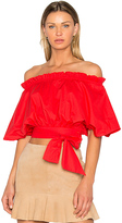 Saloni Drew Top in Red. - size 2 (also in )