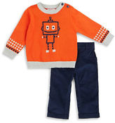 Petit Lem Baby Boys Robotic Pullover Sweater and Pant Sets