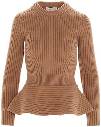 Alexander McQueen Peplum Knitted Sweater