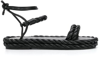 Valentino The Rope ankle-tie sandals