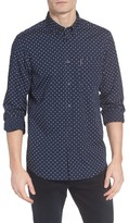 Ben Sherman Men's Slim Fit Dot Print Shirt
