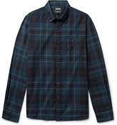 Todd Snyder Button-down Collar Checked Cotton-flannel Shirt - Blue