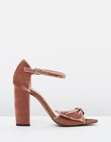 Whistles Thurza Ring Detail Velvet Heels