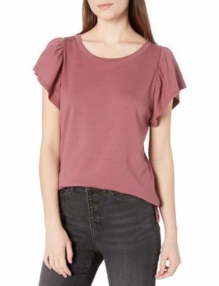 Goodthreads Cotton Interlock Flare-Sleeve Top Dress Shirt