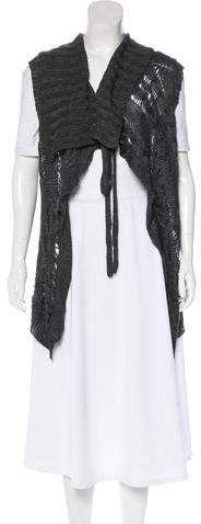 Ann Demeulemeester Linen and Silk Vest