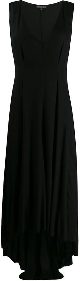 Ann Demeulemeester high-low crepe dress
