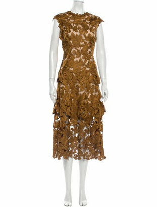 Oscar de la Renta 2020 Long Dress w/ Tags Gold