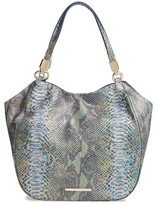 Brahmin Seville Marianna Leather Tote - Blue/green