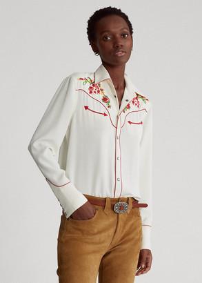 Ralph Lauren Beaded Western Shirt