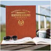 Very Personalised Football Newspaper A3 Book - Embossed Black Leather Cover