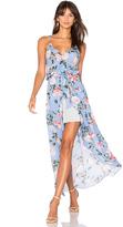 Karina Grimaldi Egypt Print Maxi Dress
