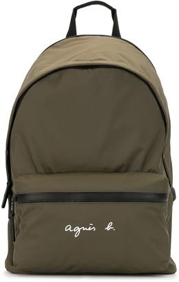 agnès b. Logo Print Backpack