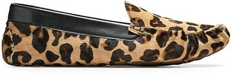 Cole Haan Evelyn Leopard-Print Faux Calf Hair Loafers