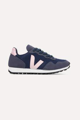 Veja + Net Sustain Sdu Rec Vegan Suede And Mesh Sneakers - Navy