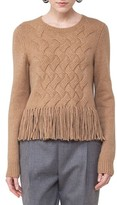 Akris Punto Women's Fringe Cable Knit Wool Blend Pullover