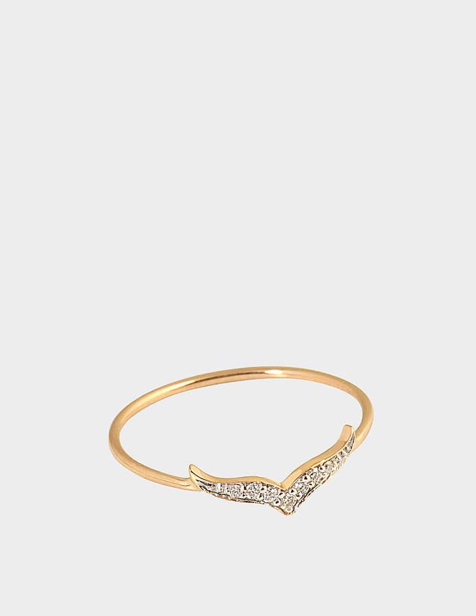 ginette_ny Diamond Wise 18-karat rose gold ring