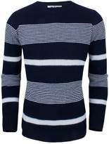 Tom's Ware Men's Slim Fit Horizontal Stripes Crew Neck Sweater TWGG1306