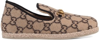 Gucci Men's GG wool loafer
