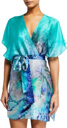 Christine Lingerie Traditional Silk Short Robe