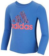 adidas Girls 2-6x Speed Signature Graphic Front T-Shirt