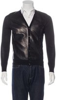 DSQUARED2 Leather-Trimmed Cardigan