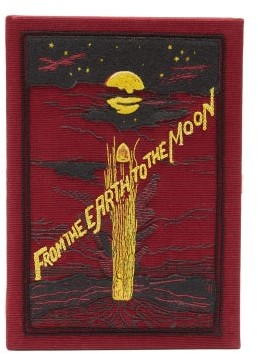 Olympia Le-Tan From The Earth To The Moon Embroidered Box Clutch - Red Multi