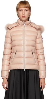 Moncler Pink Down Badyfur Jacket