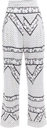 Ganni Blakely Stretch-silk Satin Wide-leg Pants