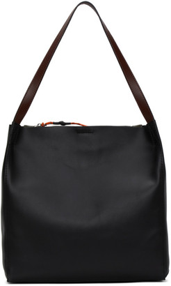 Rag & Bone Black and Khaki Leather Passenger Tote