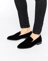 MANGO Velvet Slip On Loafer
