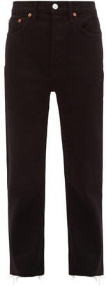 RE/DONE Stove Pipe High-rise Straight-leg Jeans - Black