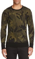 Rag & Bone Camo Crewneck Wool Sweater