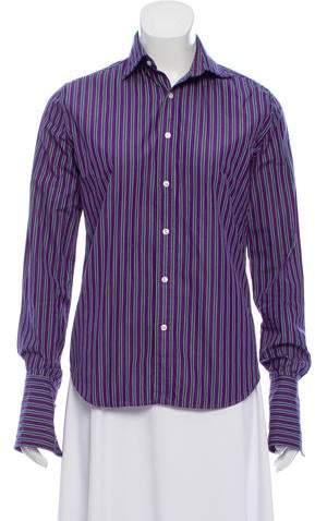 Ralph Lauren Black Label Striped Long Sleeve Button-Up