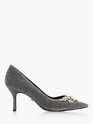 Dune Bianca 2 Jewel Embellished Pointed Toe Court Shoes